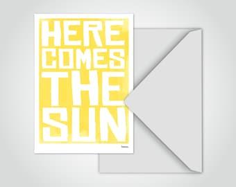 banum Postcard Sun — Greeting Card Postcard Sun, Postcard Vintage, Greeting Card A6 Envelope, Postcard Sayings Watercolor, Postcard Summer Greeting