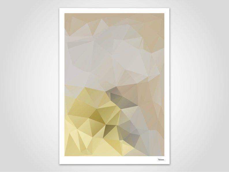 Yellowista / Poster Scandinavian Art Pastel Pictures image 0