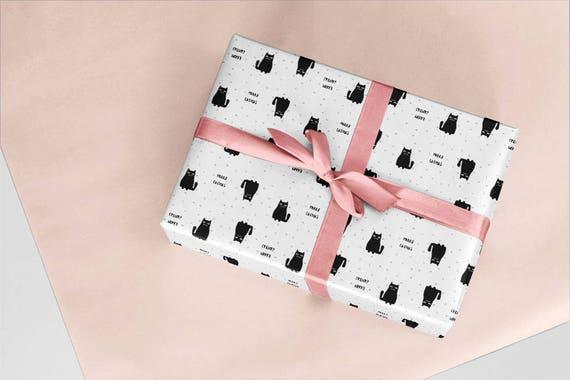 10 X Catmas Geschenkpapier Geschenke Geschenkverpackung Etsy
