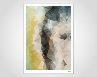 Fyur 1 — Poster, Art Print, Scandinavian Poster, Art, Art Print, Modern, Illustration, Abstract, Geometry, Gift, Lowpoly, Design