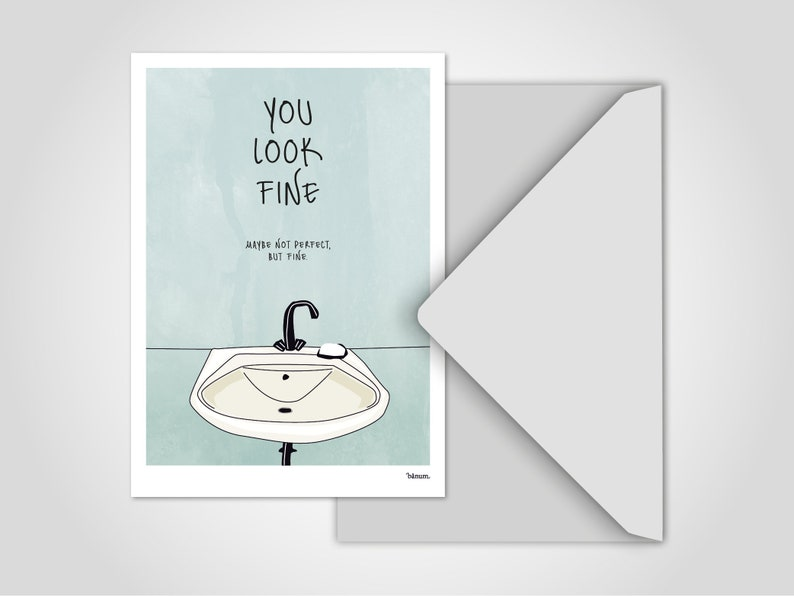 Postcard Mirror / Greeting Cards Cards Humor Comic Funny image 0