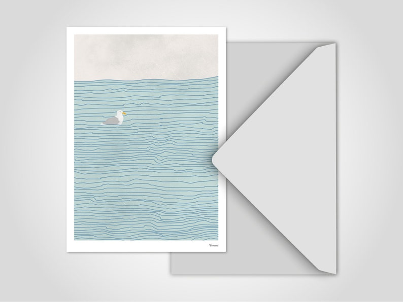 Postcard Seagull / Greeting Cards Cards Humor Comic Funny image 0