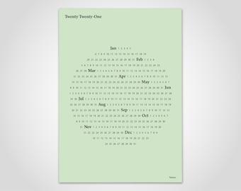 banum Circle Green — Calendar 2022, Calendar Planner, Poster Calendar, Calendar Poster, Wall Calendar 2022, Annual Calendar Beige, Decoration Living Room