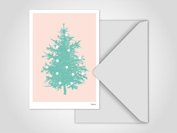 """Postkarte /""""Frohes Fest/"""" Weihnachtskarte Grußkarte Weihnachten Karte A6"""