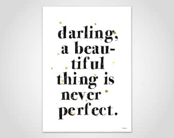 Darling — Poster, Picture, Art Print, Scandinavian, Typography, Saying, Sarcasm, Minimalist, Gift, Love, Family, Friendship