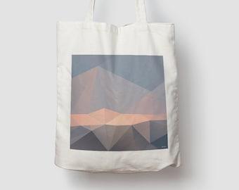 Sunset N2 — Jute bag, cotton bag, shopping bag, jute, jute bag, carrying bag, cloth bag, bag, shoulder bag pastel pattern
