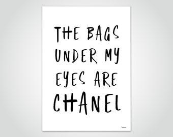 banum Eyes — poster humorous saying, poster fashion woman, poster Paris fashion, poster for you women, poster black and white saying, statement