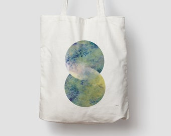 Orient — jute bag, cotton bag, shopping bag, jute, jute bag, carrier bag, fabric bag, bag, shoulder bag, plants, leaves