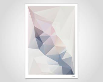 Lady — Poster, Art Print, Scandinavian Poster, Art, Art Print, Modern, Illustration, Abstract, Geometry, Gift, Lowpoly, Design