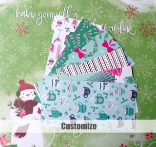 Wallet Budget Organizer Dividers  Set of 6 Dividers  Dave Ramsey Cash envelope Budget System Coupon  Holiday Bash  MADE TO ORDER Custom