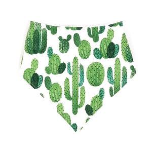 Magnetic Snap Bandana Bib Watercolor Rainbow Cactus