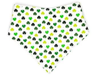 st st pattys drool bib four leaf clover bandana bib green bandana bib patricks day bib clover drool bib green drool bib Irish bib