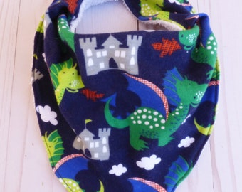 Dragon Bandana Bib, Baby Dragon Gift, Nursery Dragon Decor, Dragon Baby Shower Gift, Bandana Bib, Baby Boy Drooling Bib, Baby Bib, Baby Gift