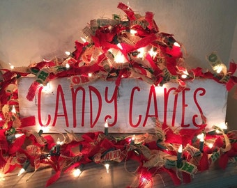 Candy Canes Sign | Christmas Decor | Christmas Wood Sign | Rustic Christmas Decor | Christmas Sign | Holiday Wood Sign | Holiday Decor
