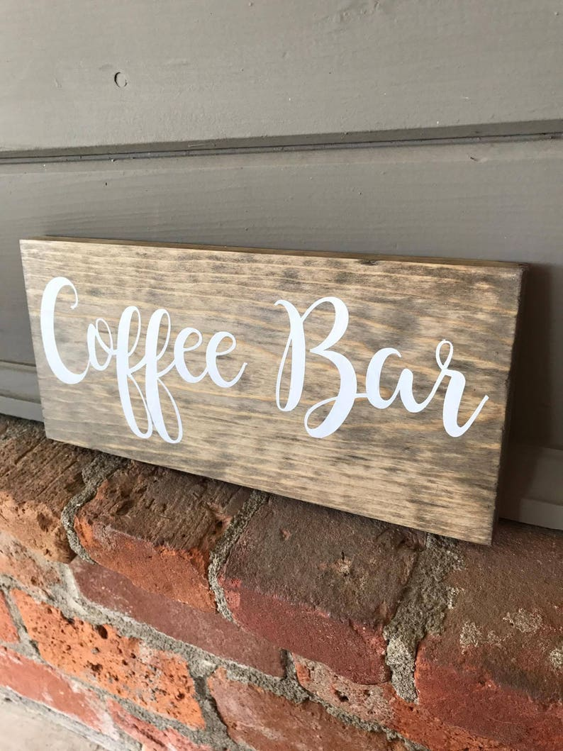 Coffee Bar Wood Sign Wooden Sign Coffee Wood Sign | Etsy
