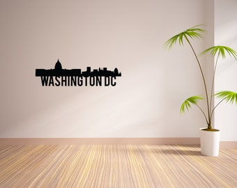 24 Inch Washington DC City Skyline Vinyl Wall Decal