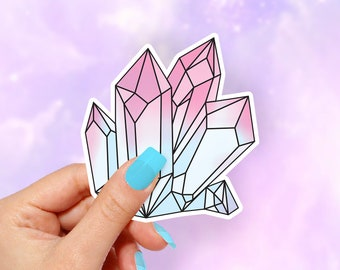 Crystal Sticker, Vinyl Stickers, Funny Stickers, Colorful Stickers
