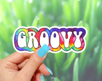 Groovy Sticker, Vinyl Stickers, Funny Stickers, Colorful Stickers, 70's Stickers