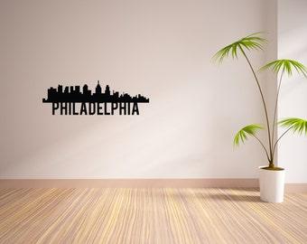 24 Inch Philadelphia City Skyline Vinyl Wall Decal
