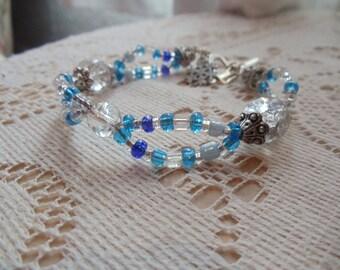 Snow Queen Beaded Bracelet