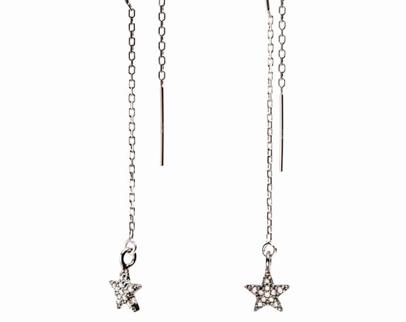 Cute Diamond Star Earrings