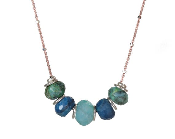 Bloodline Necklace * Our Peruvian Opal slider necklace on Mixed Metals
