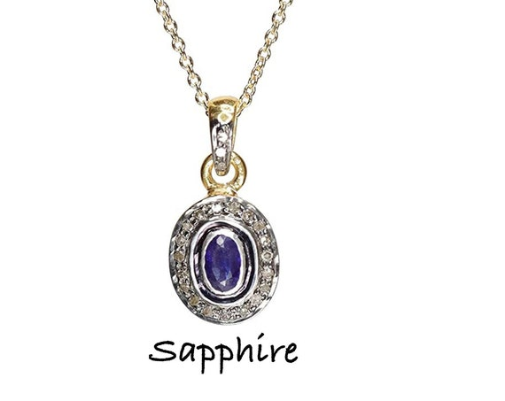 Sapphire Solitaire Pendant Necklace