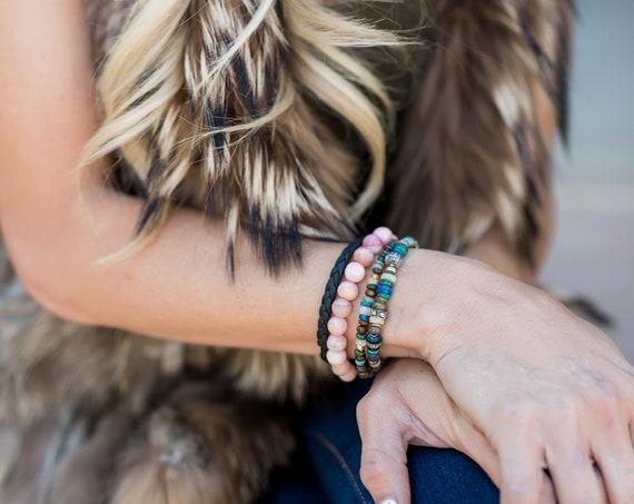 Exquisite Black Ethiopian Opal and Diamond Bracelet
