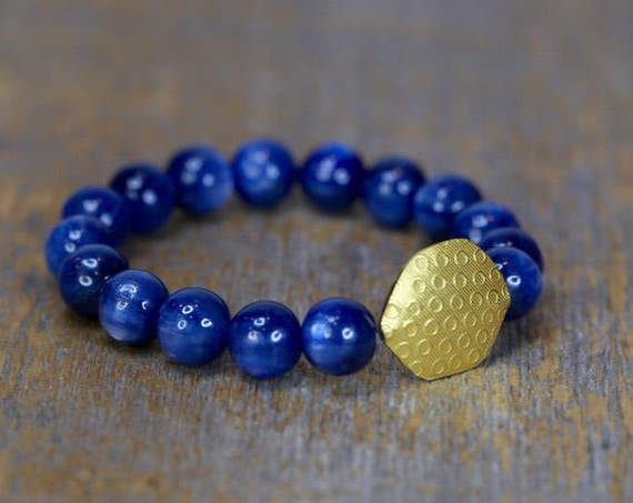 The Finest Kyanite solid 18 karat Gold bracelet