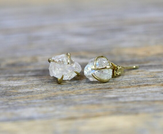 Quartz Crystal Prong Stud Earring * Gift For Her* Simple Modern Elegant Boho Earthy* healing rock crystal earrings
