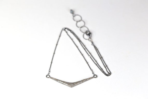 Pave Diamond Chevron necklace 16 inches
