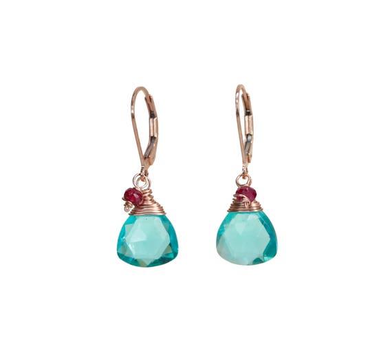 Apatite Ruby Earring