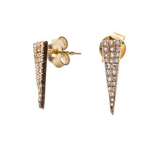Geometric Triangle Stud Earring