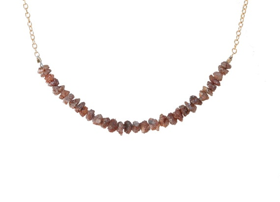 Raw Red Diamond Necklace *Rare April Birthstone Gemstone Necklace Gift Idea For Her Holiday Christmas