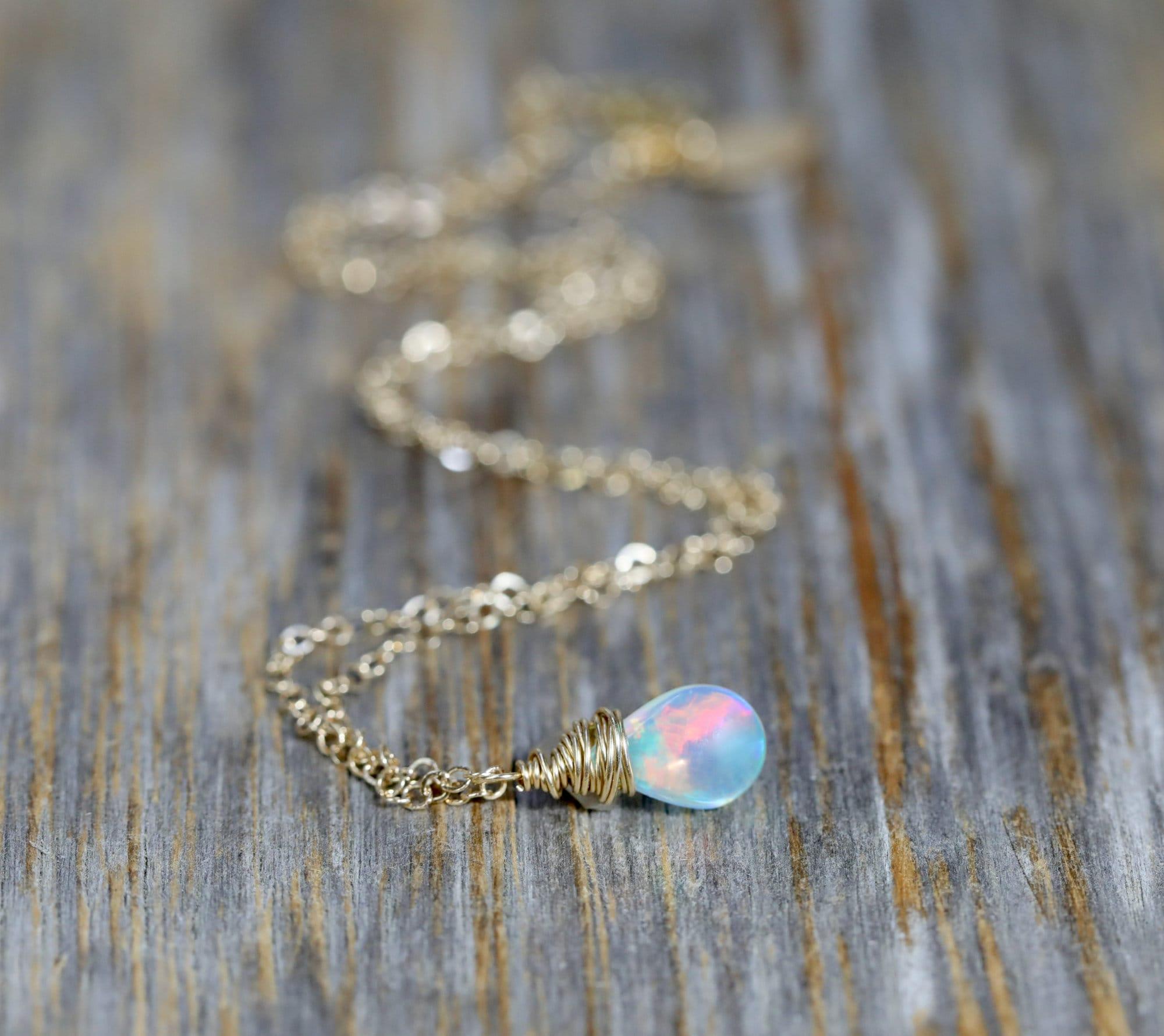 Tan Base Opal Pendant