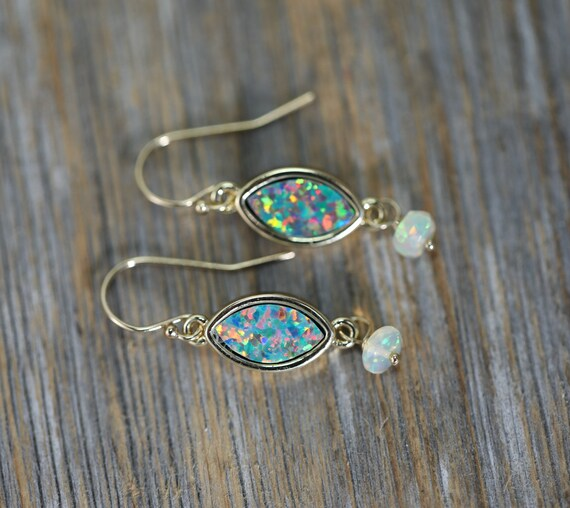 Marquise Opal Dangle Earrings