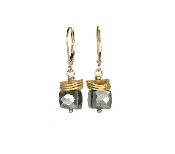 Faceted Gemstone Cube Earrings - the perfect stack earring for everyday wear