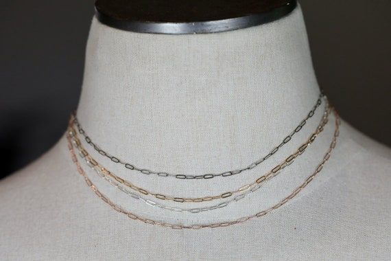 Paperclip Chain *MovieStar* Layering* Necklace