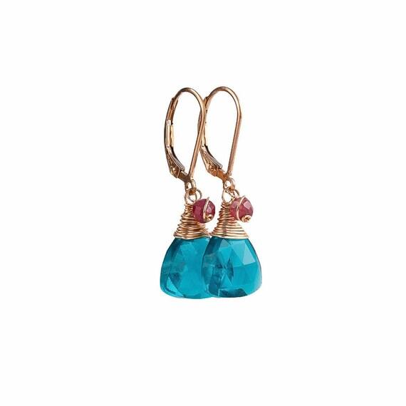 Apatite Ruby Earrings
