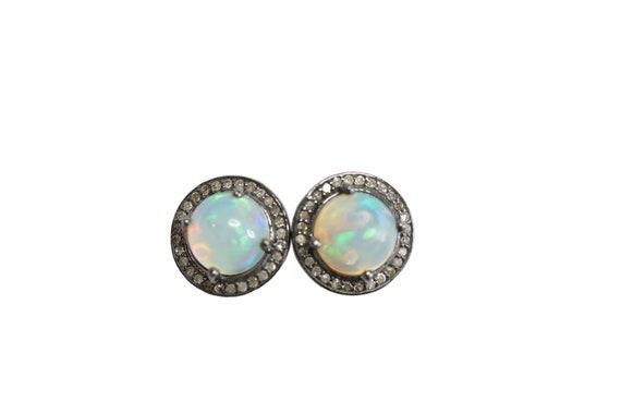 Large Opal Stud Earrings