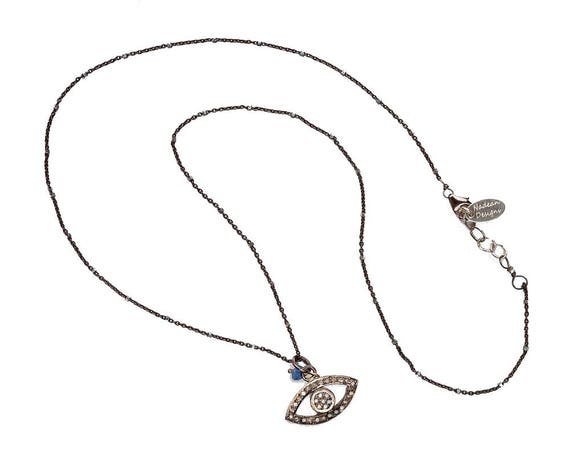 Pave Diamond Eye Necklace