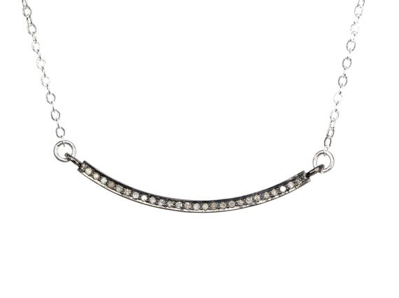 "Diamond ""smile"" Necklace"
