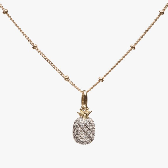 Diamond Pineapple Necklace