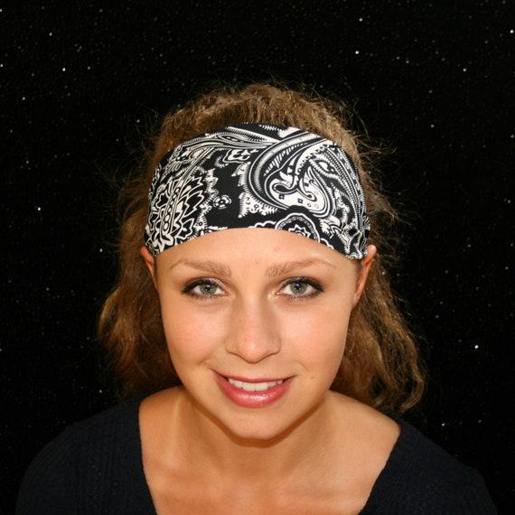Workout Sports Yoga Running Exercise Festival Moisture Wicking Quick-Dry Handmade Santa Playa USA Stars /& Stripes Headband//Sweatband