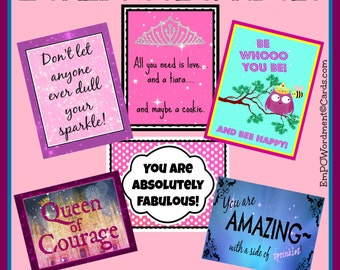 Boxed Positivity Note Card set, teacher gift, gift under 20, self-esteem notes/thank you, women and girls/positive quote card,direct sellers