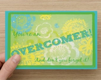 You're An Overcomer~Positivity Greeting Card~Empowerment, Dreams, Celebration, direct sellers,  Encouragement, Success, Accomplishment