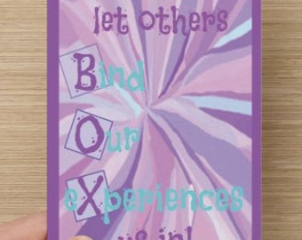 We shouldn't let others BOX us in~Greeting Card~powerful woman, direct sellers team, encourage, self-esteem quote, inspiration
