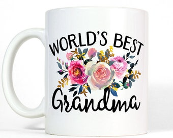 Floral Grandma Mug | Birthday Gift for Grandma Coffee Mug | Grandmother Gift | New Grandma Gift | Best Grandma Birthday Gift
