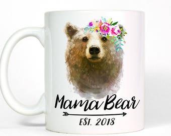 Personalized Mug   New Mom Gift   Mom Birthday Gift for Mom Mug   Custom Mama Bear Mug   Mothers Day Gift for New Mom