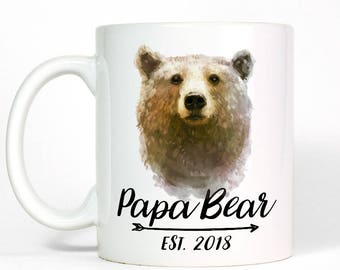 Custom Date New Dad Gift | Papa Bear Mug | Personalized Dad Gift | Dad Mug | Dad Gift from Daughter | Daughter to Father Gift | Gift for Dad